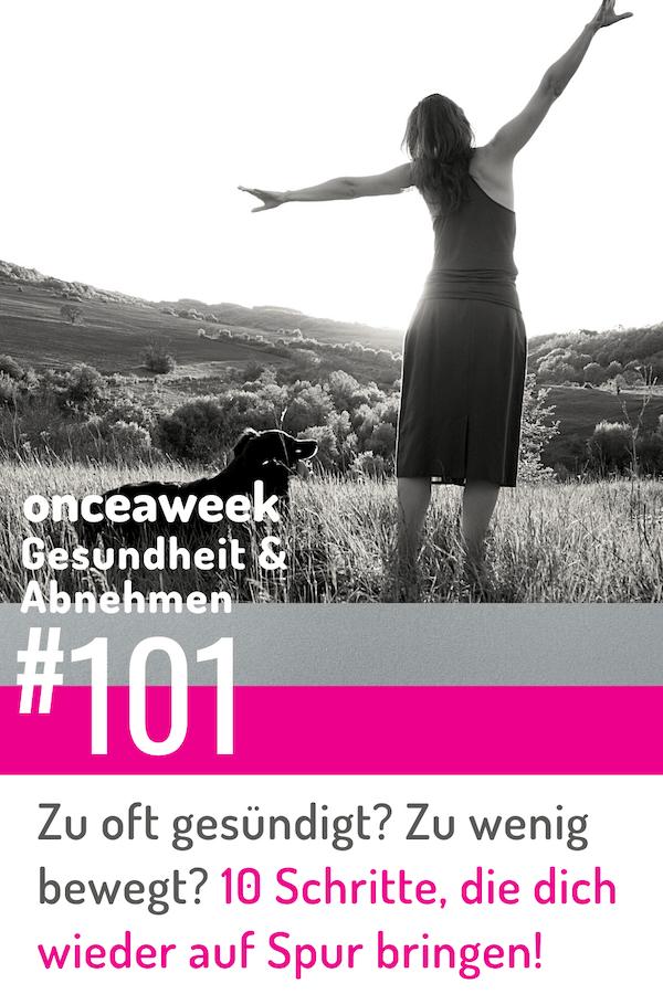 10 Schritte um zurück auf die gesund und schlank Spur zu kommen